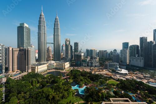 In de dag Stad gebouw Kuala lumpur skyline in the morning, Malaysia, Kuala lumpur is capital city of Malaysia