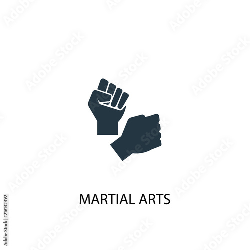 Photo martial arts creative icon. Simple element illustration