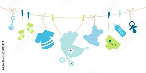 Fotografie, Obraz  Card Baby Symbols Boy