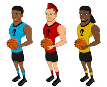 Diverse Basketball Players - C...