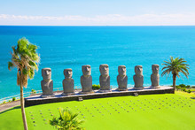 Moai Statues In Nichinan, Miyazaki, Japan
