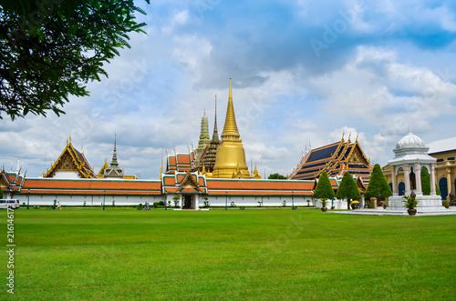 Wat Phra Kaew, Emerald buddha temple in Bangkok, Thailand