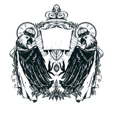 The Emblem Or Coat Of Arms Wit...