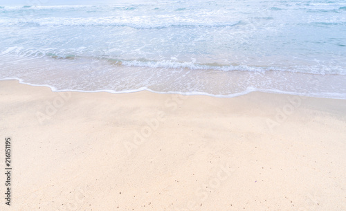 Staande foto Strand seascape with wave on the beach for relax background