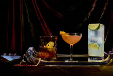 Assorted Cocktails On Tray