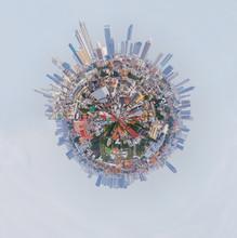 360 Panorama High View Of The City / Circle Panorama High View Of The City