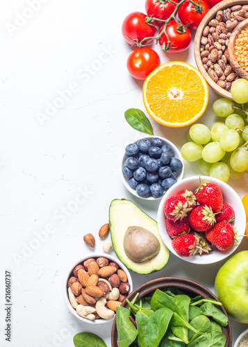 Healthy vegan food.