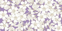 Seamless Pattern With Brier