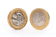 Euro Coin And New Pound Coin I...