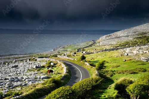 In de dag Kust Fanore coast road, Fanore, Clare, Ireland