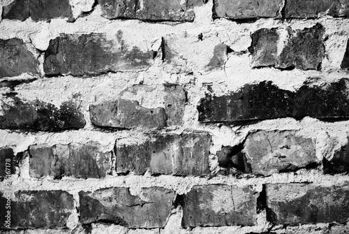 Foto op Aluminium Wand Old bricks wall texture background outdoors. Vintage wall.