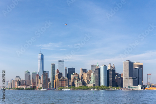 Poster New York City Panoramic view of Lower Manhattan, New York City, USA.