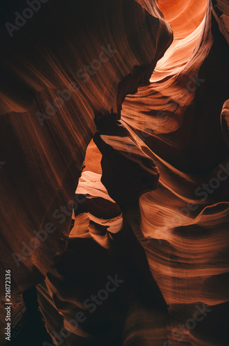 Amazing textures in Antelope Canyon, Navajo Tribal Park, Arizona, USA