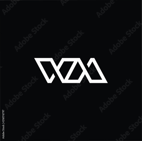 Photo  Outstanding professional elegant trendy awesome artistic black and white color WM ME initial based Alphabet icon logo