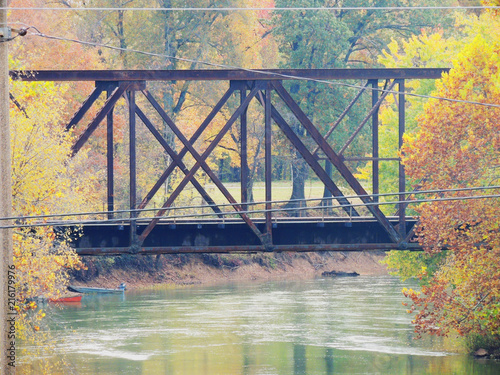Tablou Canvas Railroad bridge