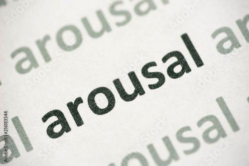 word arousal printed on paper macro Canvas Print