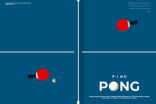 Tennis Table. Ping-pong Poster...