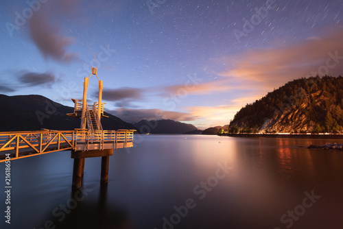 Photo  A faint Aurora over Porteau Cove Provincial Park