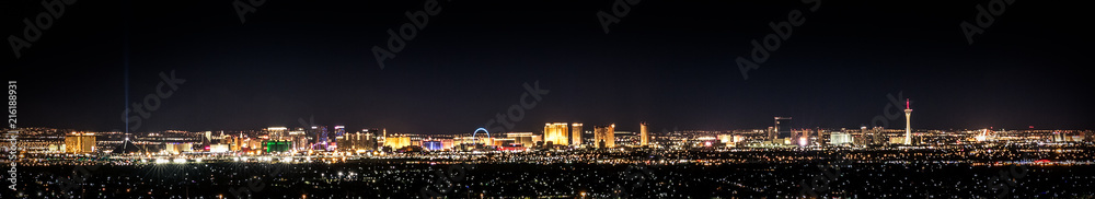 Fototapeta Vegas In Color, cityscape at night with city lights