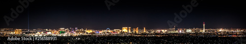 Photo sur Aluminium Las Vegas Vegas In Color, cityscape at night with city lights