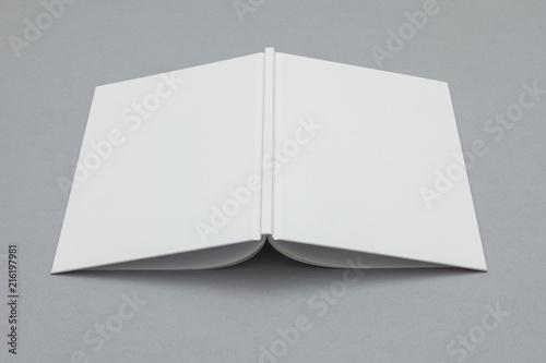 Fotografering  Hardback book mockup. White book on a grey background