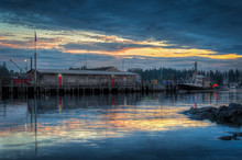 Lobster Pound At Dawn Docked L...