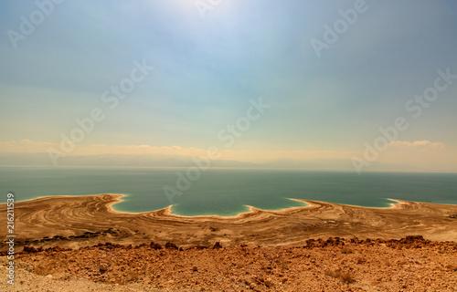 Obraz na płótnie Desert landscape of Israel, Dead Sea, Jordan