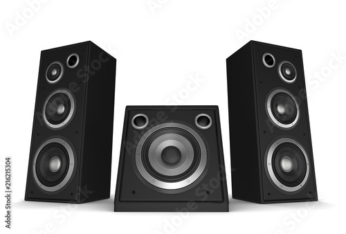 Cuadros en Lienzo speaker concept 3d illustration