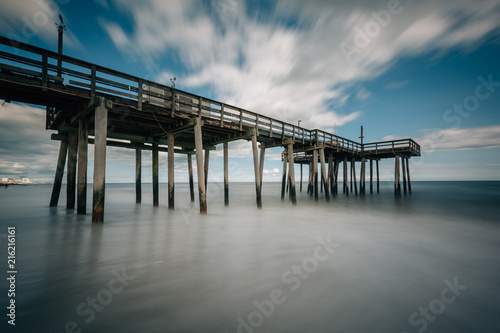 A fishing pier in the Atlantic Ocean, in Margate City, New Jersey.