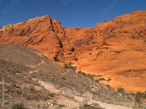 Fotobehang Oranje eclat Nevada Desert