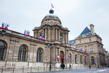 The Senate Of France Located At The  Luxembourg Palace In The 6th Arrondissement Of Paris
