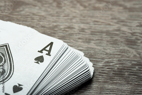 фотография  Deck of cards with ace on top