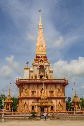 Fotobehang Bedehuis Chalong temple, Phuket, Thailand