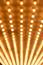Rows Of Illuminated Globes Und...