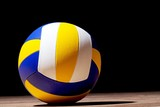 Colorful volleyball object
