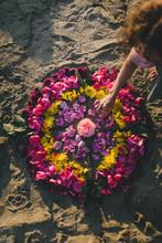 Making A Flower Mandala