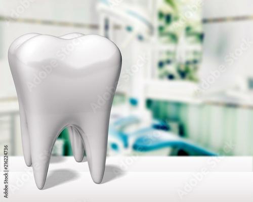 Cuadros en Lienzo Big teeth on hospital background