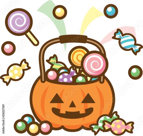 Valokuvatapetti ハロウィン お菓子 バケツ