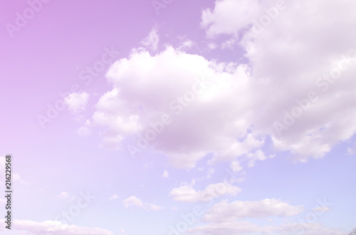 Printed kitchen splashbacks Purple A blue sky with lots of white clouds of different sizes