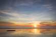canvas print picture - The sun setting on Cable Beach on a beautiful warm winter day.