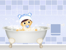 Baby In The Bathtub