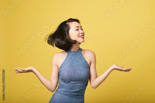 Photo  Dancing pretty woman