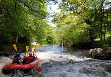 White Water Rafting In Snowdonia, North Wales.