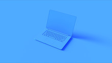 Blue Laptop 3d Illustration