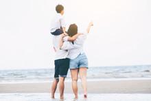 Happy Family Goes Vacation On ...