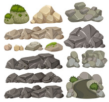 Set Of Different Rocks