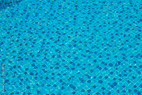 Fotografie, Obraz  Water in a blue swimming pool, background