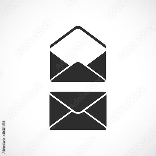 Fotografía  Envelope vector silhouette icon
