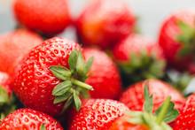 Closeup Of Fresh Strawberries