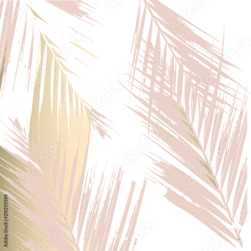 Fotomural Autumn abstract foliage rose gold blush background